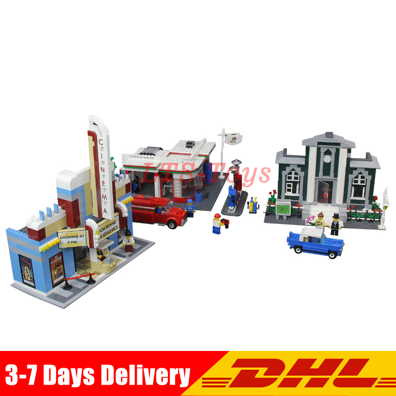 2018 Lepin 02022 2080pcs City 50th Anniversary Town Building Blocks Bricks educational Toys for children Gifts Compatible 10184 waz compatible legoe city lepin 2017 02022 1080pcs city 50th anniversary town figure building blocks bricks toys for children