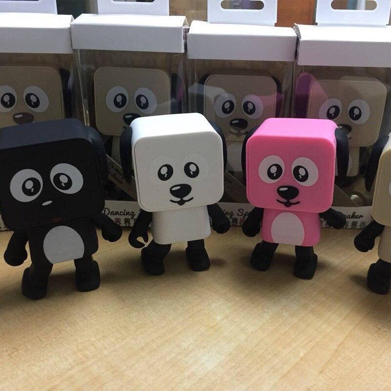Mignon Portable Intelligent Danse Robot Sans Fil Bluetooth Haut-Parleur Danse Robot Musique Chien