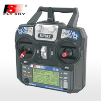 FlyskyのFS-i6 2.4グラム6ch afhds 2a lcdスクリーントランスミッタでFS-IA6レシーバー用rcヘリグライダーquadcopter multirotor