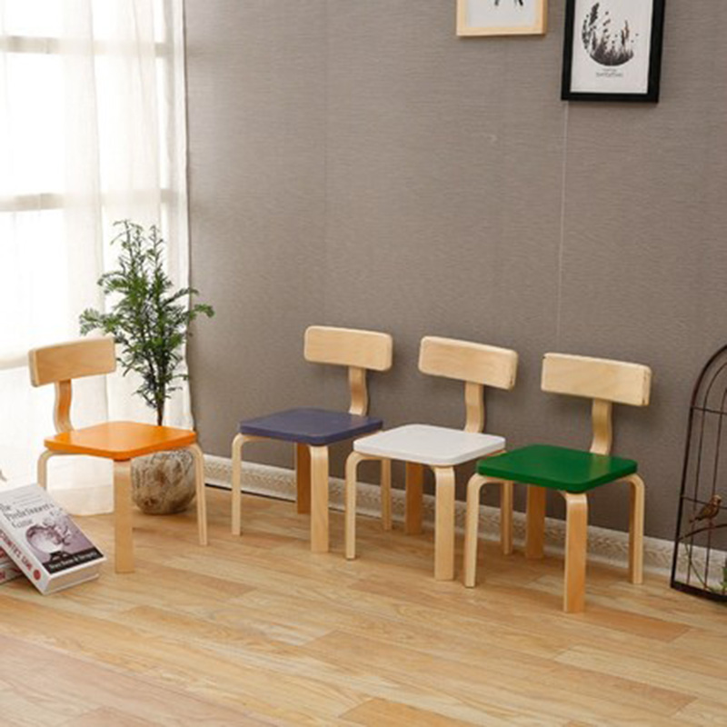 Assembly Children's backrest chair Solid wood dining chair assembly Small bench for shoe stool writing chair Home Furniture assembly children s backrest chair solid wood dining chair assembly small bench for shoe stool writing chair home furniture