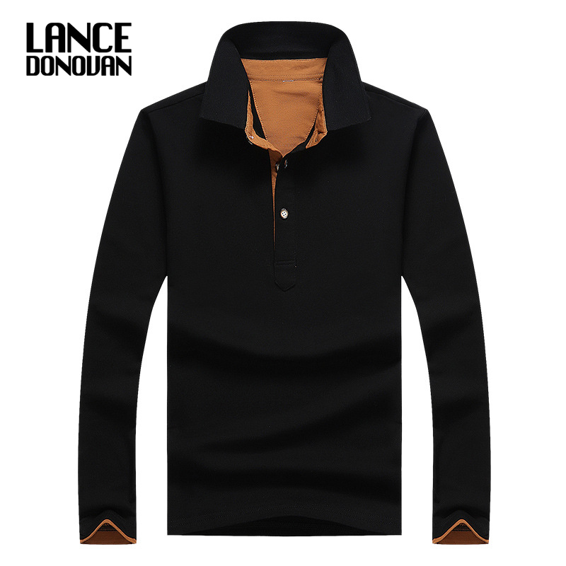 Casual New 2019 Autumn   Polo   Shirt Men Long Sleeve Solid Breathable male Tops