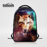 Dispalang Brand Design Animal Printing Backpacks Unisex Classic Laptop Backpack Wolf Casual School Bags For Teenagers Boys Girls