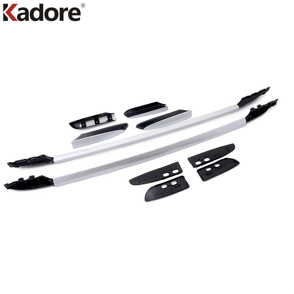For Toyota Rav4 2007 2008 2009 2010 2011 2012 Roof Rack Rail With 1 Avanza Rav 4 2014 2018 Aluminum Luggage Bar