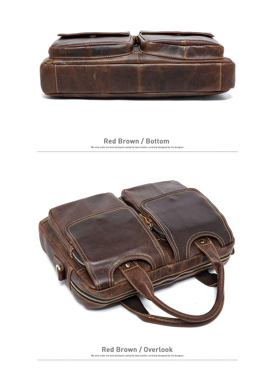 High Quality man briefcase genuine leather