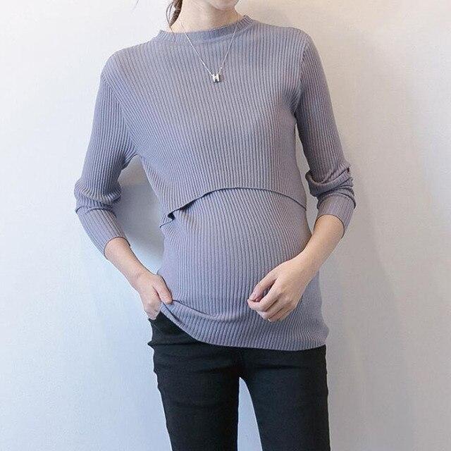 97c6c3e29 1 PcFashion Gravidez Aleitamento Materno Tops Blusa Camisola Das Mulheres  Grávidas Enfermagem Amamentação Roupas de Outono e Inverno