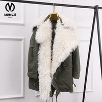 MUMUZI Faux Fur Coat Women Fur Jacket Long Sleeve Female Outerwears Jackets 2017 Autumn Winter Hairy