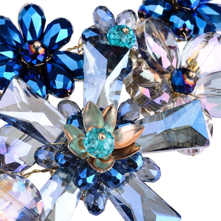 Λουλούδια κρύσταλλα λουλούδι - Κοσμήματα μόδας - Φωτογραφία 3