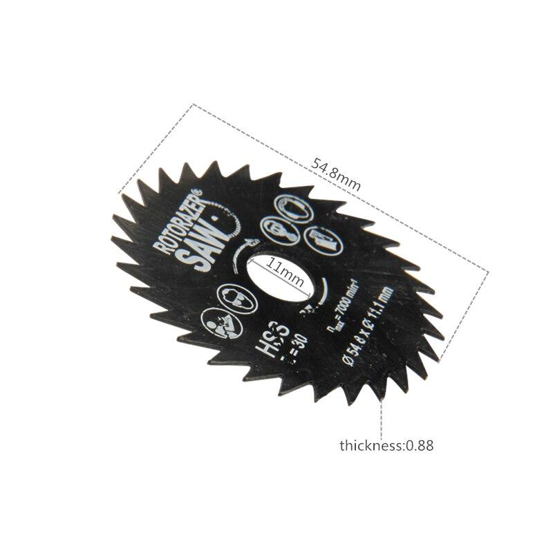 4 vnt pjūklų pjovimo diskai HSS sukamojo įrankio diskiniai - Ašmenys pjūklams - Nuotrauka 3