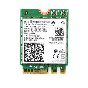 Image 5 - להקה כפולה שולחן עבודה אלחוטי Intel 9260AC 9260NGW MU MIMO 802.11ac 1730 Mbps Wifi Bluetooth 5.0 PCI E PCIe X1 Wlan כרטיס + אנטנות