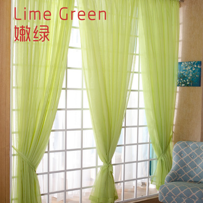 Us 2 77 23 Off White D Sheer Yarn Tulle Orange Curtains Room Divider Green Decor Children Wedding Ceiling Wp184b In