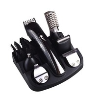 6 in 1 Men's Grooming Kit, Rechargeable Hair Clippers, Precision Trimmer, Body Shaver, Nose Trimmer