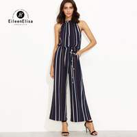 Eileen Elisa Elegant Rompers Women Jumpsuits 2017 Sexy Off The Shoulder One Piece Rompers Sleeveless Spaghetti