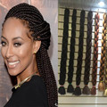 "Good Quality 100% Synthetic Xpression Braiding Hair 82"" 165G Box Braids Hair Synthetic Bulk Hair For Ombre Braiding Hair Mega"