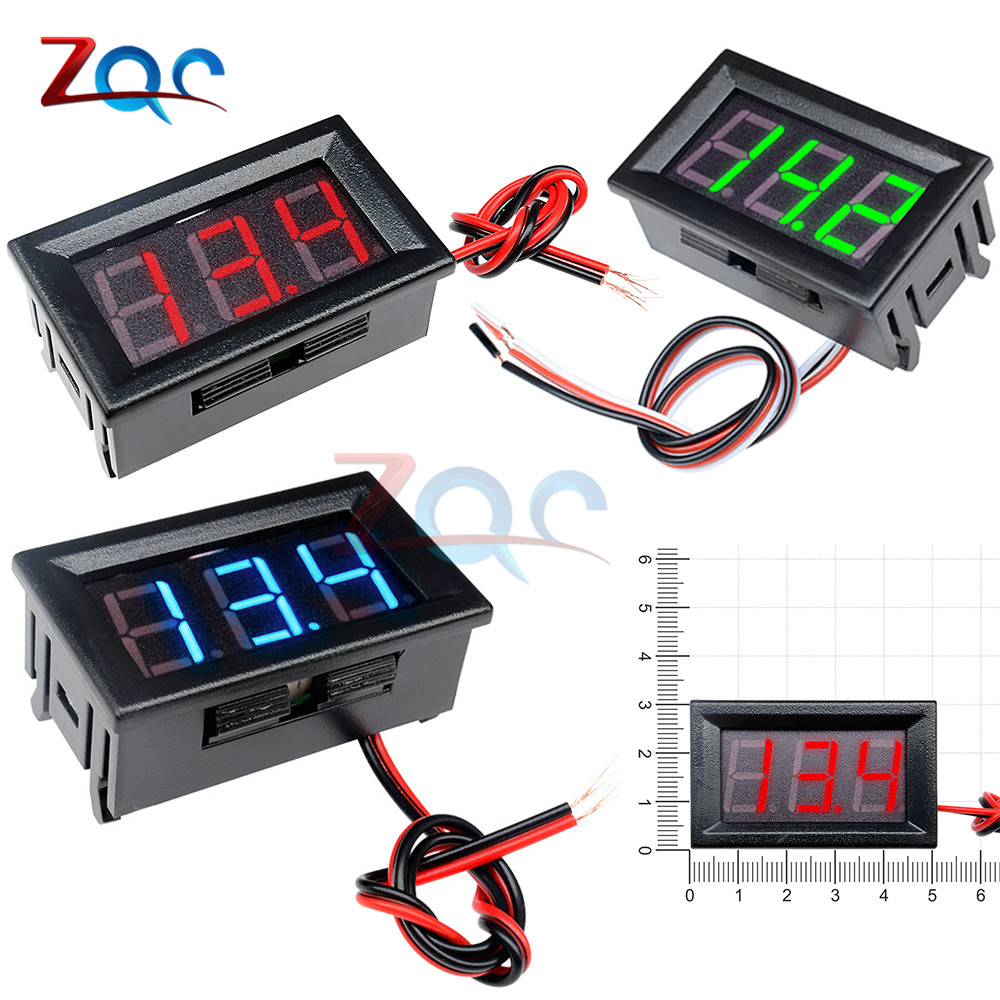 0.56'' Mini Digital Voltmeter DC 4.5V-30V AC 70V-500V Volt Voltage Panel Tester Meter 12V 24V 220V Electromobile Motorcycle Car