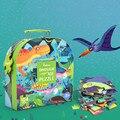 104 шт. динозавр головоломка Enfant 3 Ans ребенок Раннее Обучение Наука головоломка деревянные животные Детская Головоломка Игрушка Подарочная к...