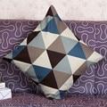 Подушка Чехол 45*45 геометрический чехол для подушки декоративные дома, с ромбовидным узором, диванные подушки Dekoratif Yastklar #815 - фото