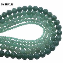 Wholesale Natural Stone Green Aventurine Round Loose Beads  4 6 8 10 12 MM Pick Size For Jewelry Making DIY Necklace Bracelet