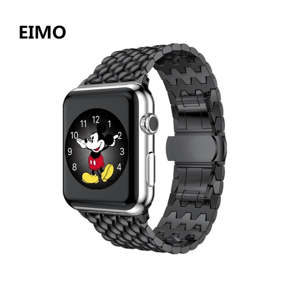 3e0f702b6c8 Link pulseira para apple watch banda relógio aple 42 correa mm 38mm alça  pulseira de aço
