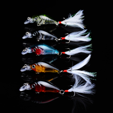 1Pcs Spinner Minnow Chubby Lure Floating Deep Diving Crankbait Fishing Lures 4g/4.5cm Lifelike Wobblers With 10# Hooks