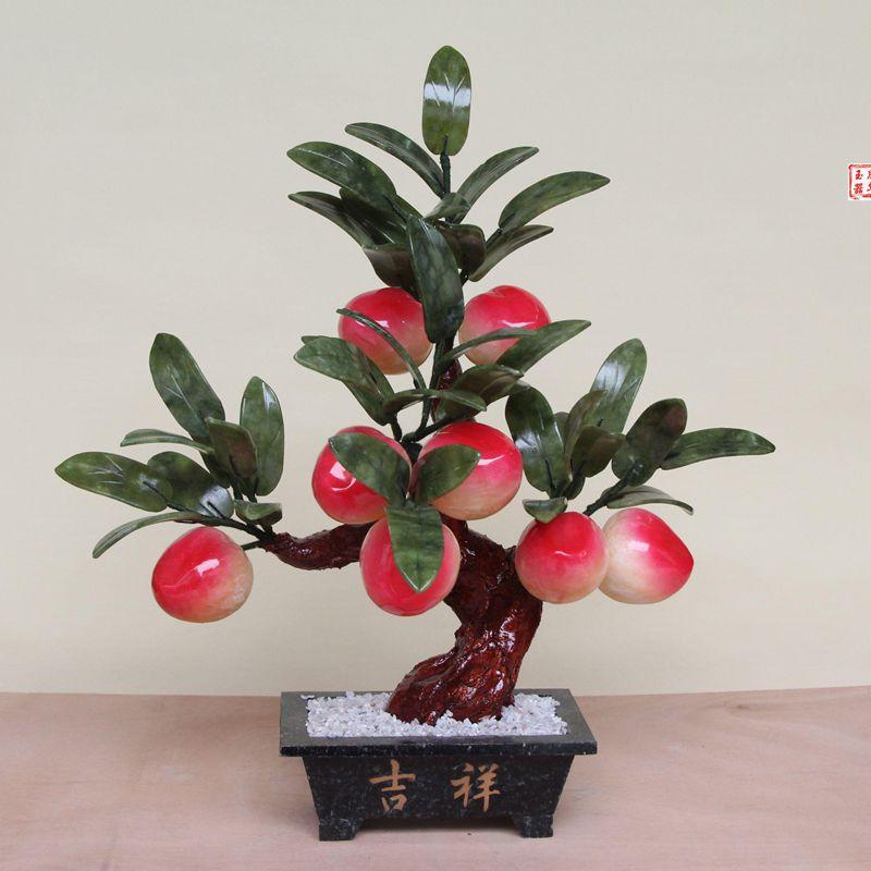 Jade bonsai ornaments 8 large peach tree ornaments Home Furnishing jewelry ornaments jewelry roomJade bonsai ornaments 8 large peach tree ornaments Home Furnishing jewelry ornaments jewelry room