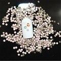 Alta calidad SS3-SS34 Hotfix Flatback Crystal Pink Opal Nail Rhinestones Para Uñas 3D Decoración Del Arte Del Clavo Gemas