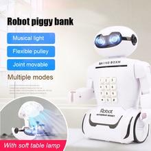 Toy Money-Box Alcancia Savings Safe Cash Electronic Music Desk-Lamp Robot Creative Children