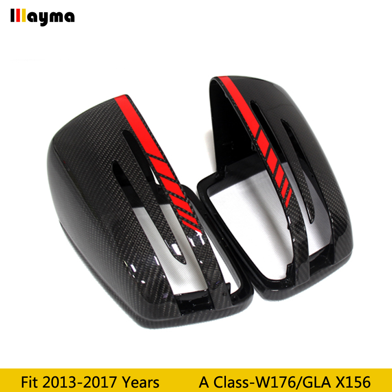 W176 Carbon Fiber replace Mirror cover For Benz A180 A200 A220 A250 A45 2013 2017 year