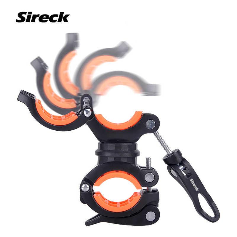 Sireck Bike świecznik reflektor rowerowy latarka rowerowa przednia lampka led klip stojak wsparcie Bycicle akcesoria oświetleniowe