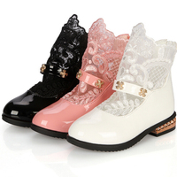 Free Shipping In The Spring Of 2016 Popular Children S Boots Princess Fashion Lace Boots Leisure