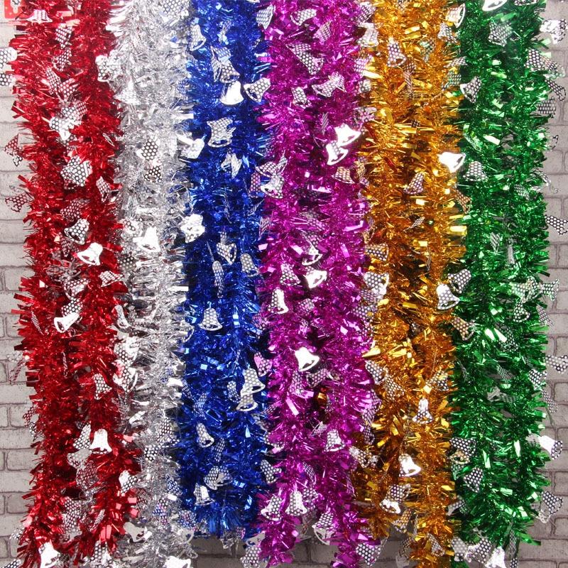 2m Christmas Tree Decoration Full Colour Ribbon Garland