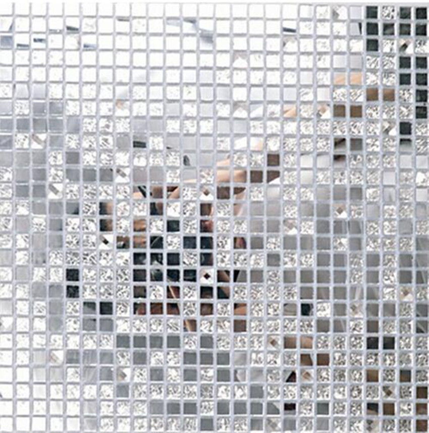 13 Beveled Silver Crystal Mirror Gl Mosaic Tiles Kitchen Backsplash Bathroom Shower Hallway Showroom Cabinet Decorate Wall In Wallpapers From Home