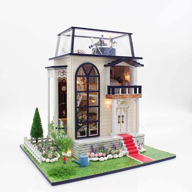 Cadeaux Nouvelle Marque DIY Poupée Maisons En Bois Maison de Poupée Unisexe dollhouse Enfants Jouet Meubles Miniature artisanat petit prince 13837