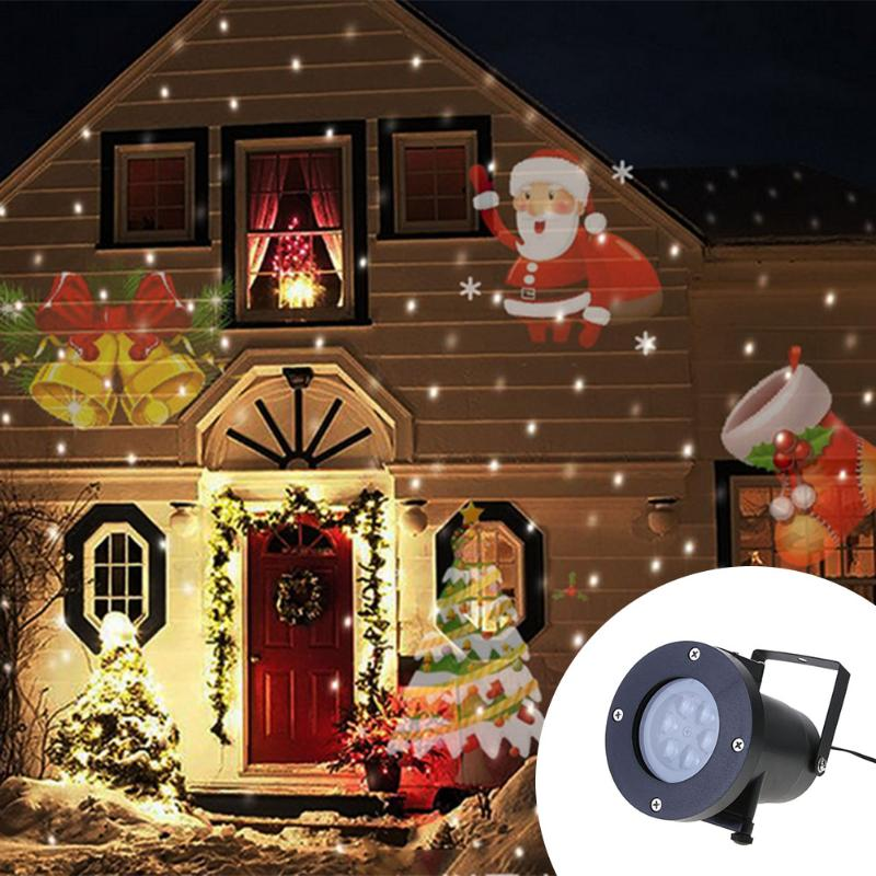 12 Types Christmas Laser Snowflake Projector Outdoor LED Lamp Waterproof Disco Lights Home Garden Star Light Indoor Decor