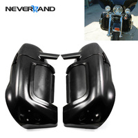 Motorcycle ABS Plastic Black Lower Vented Leg Warmer Fairings For Harley Touring Road King Electra Glide D30