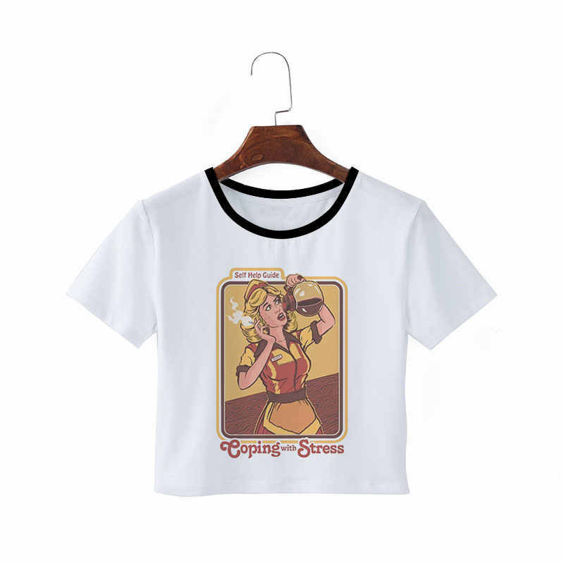 c7107c04 ... Aesthetic Grunge Ulzzang Pulp Fiction Funny Korean Clothes Crop Top  Fashion 90s Vintage Summer Tumblr Graphic ...