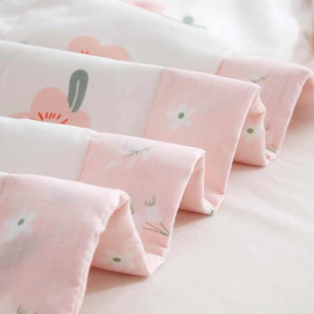 2019 Màu Hồng Hoa Nhỏ Quilting Quilt Mềm Khâu Vải Cotton Mềm Mại Polyester Phụ Đôi Nữ Hoàng Đầy Đủ Comforter Mùa Hè