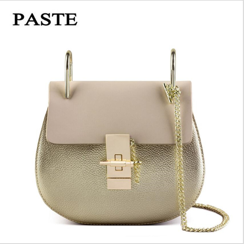 PASTE Brand Ladies Bag 2017 New Chain of Small Package star with the Leather Female Mini Bag Handbag Shoulder Messenger Bag