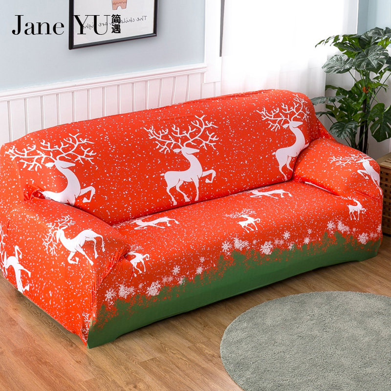 Excellent Us 24 75 45 Off Janeyu Christmas Pattern 2019 New Arrived Slipcovers Cheap Cloth Printed Art Spandex Loveseat Sofa Couch Covers Home Decoration In Andrewgaddart Wooden Chair Designs For Living Room Andrewgaddartcom