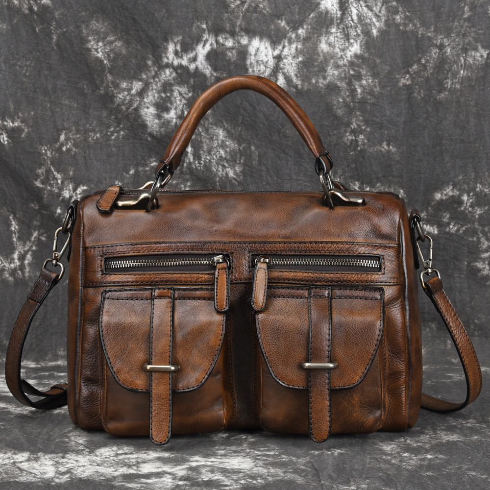 2019 New Fashion cowhide male commercial briefcase /Real Leather vintage mens messenger bag/casual Natural Cowskin Business bag2019 New Fashion cowhide male commercial briefcase /Real Leather vintage mens messenger bag/casual Natural Cowskin Business bag