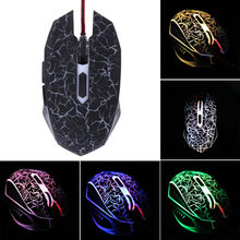 PC Gaming Mouse ajustable colorido Backlight 4000 PPP óptico con cable juego ratón para ordenador portátil(China)