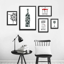 Abstract Wine Quotes Canvas Paintings Black and White Nordic Poster Print Wall Art Pop Pictures Kitchen Bar Home Decor Unframed цена в Москве и Питере