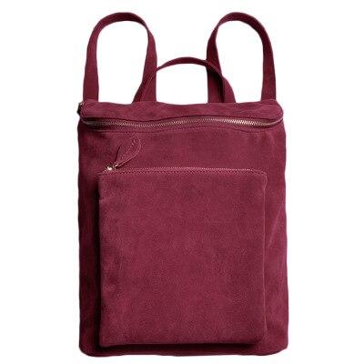 Designer high quality red velvet backpack female large capacity travel backpacks casual shoulder bag ladies randoseru