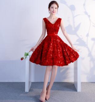 DongCMY Короткое Сексуальное мини коктейльное платье, элегантные вечерние платья на молнии больших размеров - Цвет: burgundy