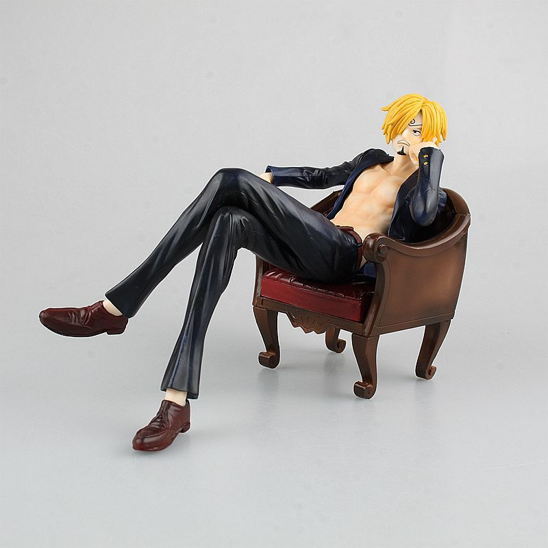 Anime One Piece POP Sanji S.O.C Cool Sitting Ver. PVC Action Figure Collectible Model Toy Doll 16cm black leg sanji japan anime one piece action figure fire battle version 16cm pvc model toy with box collection doll toys f2722