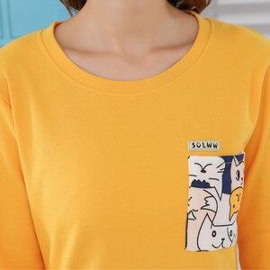 Image 4 - Yidanna Delle Donne Pajamas Set Sveglio di Sonno Del Fumetto di Abbigliamento A Maniche Lunghe di Autunno Degli Indumenti Da Notte casual Femminile Indumenti Da Letto Della Signora Cotone Nighty