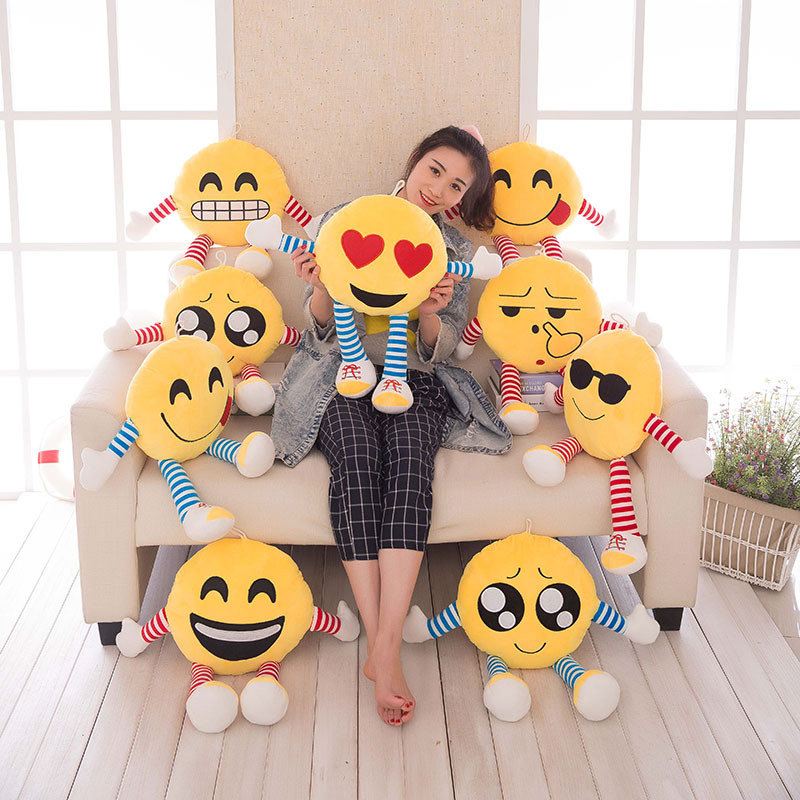 50 cm new Emoticons Plush Toys Stuffed expression Face Pillow For Kids Gift