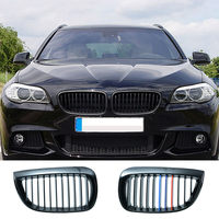 1pair Grille For BMW 1 series E81 E87 04 07 gloss black Car Front Center Wide Kidney Grill Racing Grill Car styling 8P