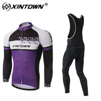 XINTOWN Long Sleeve Bib Cycling Jersey Set Men 2018 Pro Team Spring Winter Cycliste Homme Maillot