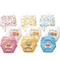 Promotion 3pcs/lot Baby Training Pants 3 layers Anpanman Diapers Nappies Boy Girl's Underwear Short Pants #001