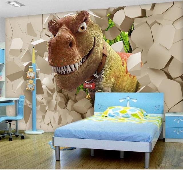 Benutzerdefinierte 3d fototapete kinderzimmer mural dinosaurier ...